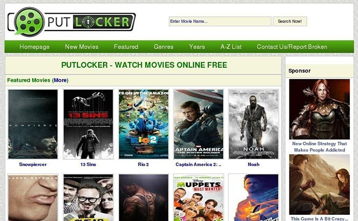 Top 10 Putlocker Alternatives to Online Stream Movies