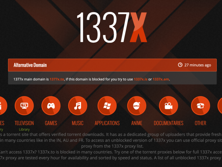 What is 1377x??Proxy list of 1377x – Download Movies from 1377x